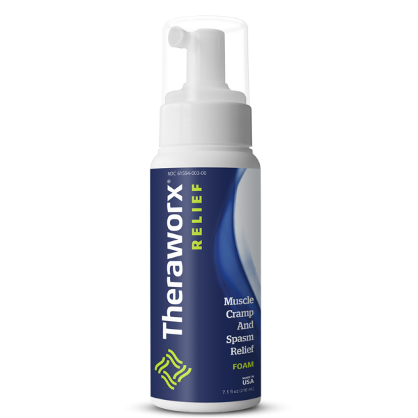 Theraworx Relief 7.1oz (240 ml) Foam Front of Bottle